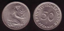 50 Pfennig 1950G  BDL fast stempelglanz, selten