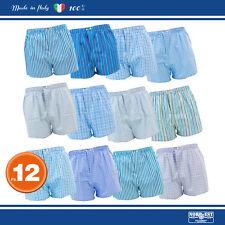 12 Paia mutande tipo Boxer Nord-Est Uomo MONTECARLO puro Cotone Popeline camicia