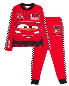 Disney Cars Pyjamas Kids Lightning McQueen Dress Up Racing Driver Suit Pjs Set