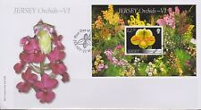 GB Jersey 2008 orquídeas Series VI/hibrids £ 2.50 Mini Hojas SG MS1378 FDC Flores
