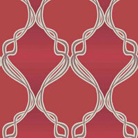 Glitter Effect Wallpaper Uptown Embossed Textured Vinyl Sparkle Red White Brown