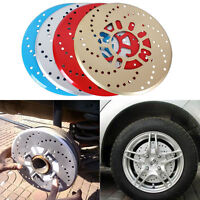 2 x Gold Racing Car Wheel Decor Brakes Covers Aluminium Disc Brake Cover 10.2""