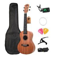 Concert Ukulele Kits 23 Inch Rosewood 4 Strings Hawaiian Mini Guitar With  O6N8
