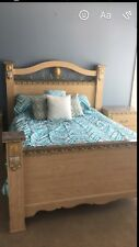 Bedroom furniture 4 pieces -Ashley Queen headboard/footboard and two nightstands