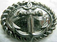 CHANEL  DARK SILVER  CC LOGO FRONT AUTH METAL BUTTON TAG 16 x 11 MM emblem NEW