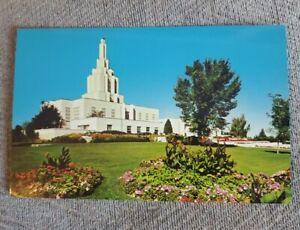 Latter Day Saints Temple Postcard Idaho Falls, ID