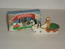 1991 Noma Christmas Village Acc. Horse/Cart Porcelain Figure in Box Free Ship
