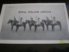 Old postcard monkeys on horses Royal Italian Circus used 1904
