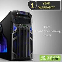 Windows 10 Core i7 Quad Core Gaming Tower PC -8GB DDR3 - 1000GB HDD-HDMI -