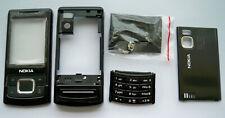 Black Housing Fascia Facia Cover faceplate case for Nokia 6500s 6500 slide