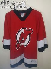 New Jersey Devils Adidas Home Jersey Size LARGE Fits 46-48 No Number on Back