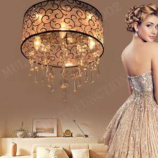 Chandelier Modern Ceiling Lamp Light Crystal Pendant Fixture Living Room Bedroom