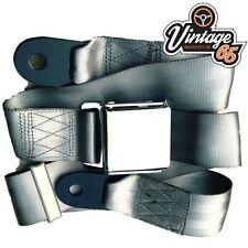 mercedes clásico gris Cromo Hebilla PULIDO Cinturón De Seguridad 2 ajustable