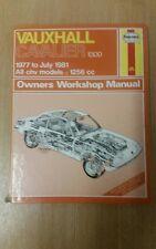 VAUXHALL CAVALIER MK1 1300 1977-1981 HAYNES WORKSHOP MANUAL 461 USED FREE P&P