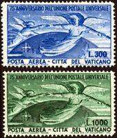 Vaticano - 1949 - U.P.U.  - serie completa nuova - MNH - Sassone nn.18/19