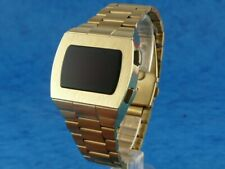 ELVIS WATCH 2 1970s Old Vintage Style LED LCD DIGITAL Rare Retro Watch p1 GOLD