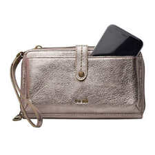 The Sak Genuine Leather 3-in-1 Phone Wallet, Color: Gold