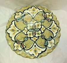VTG Signed ART POTTERY ISLAMIC MOROCCAN EGYPTIAN NORTH AFRICAN WALL PLATE DISH