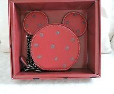 Disney X Coach Minnie Mouse Red Coin Purse Polka Dot New