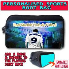 PERSONALISED UNOFFICAL REAL MADRID FOOTBALL BOOT SPORTS TRAINER SHOE BAG