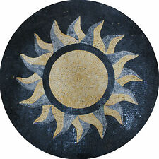 Bright Wall Floor Round Medallion Marble Mosaic MD1340