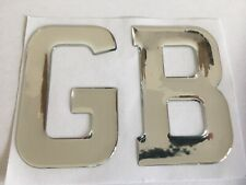 GB LETTERS GREAT BRITAIN UK DOMED RESIN CAR BADGES BOOT CARAVAN NUM PLATE CHROME