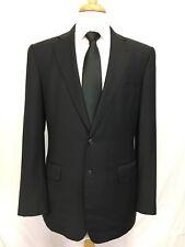 Ermenegildo Zegna Mens 2 Button Blazer Sport Coat Jacket Wool Black Italy 40R
