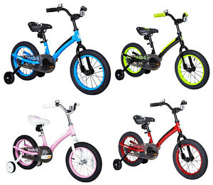 """Mobo First 14"""" Kids Pedal Bicycle Bike with Training Wheel NEW - 4 COLOR CHOICE"""