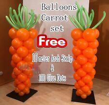50 x GLITTER EASTER CARROT Bunny Rabbit Orange Party Decorations Egg Race Hunt
