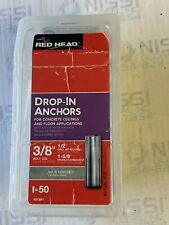 "Lot Of 23 Red Head Rl-38 Drop-In Anchors 3/8"" Bolt Size"