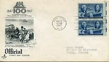 FDC/ FIRST DAY COVER / ETATS UNIS / PHILATELIC EXHIBITION NEW YORK 1947 VICHY