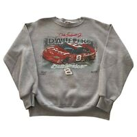VTG 90s Dale Earnhardt Jr #8 Gray Chase NASCAR Racing Sweatshirt Men's Medium