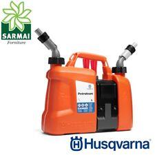 Husqvarna tanica combinata per rifornimento benzina carburante 5 lt olio 2,5 lt