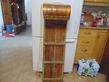 """vintage wooden snow toboggan slep  47"""" nice      # 5737"""
