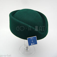 Vintage Wool Stewardess Flight Attendants Party Pillbox Hat Fascinators Green