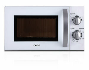 CELLO 700W MICROWAVE OVEN 20L 5 POWER LEVELS GLASS TURNTABLE CLOCK FAST DELIVERY