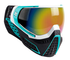 New HK Army LE KLR Thermal Paintball Goggles Mask - Mist White & Teal Blue