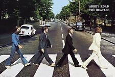 "THE BEATLES - ABBEY ROAD ALBUM COVER PEDESTRIAN XING 91 x 61 cm 36"" x 24"" POSTER"