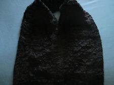 Rare et superbe étole de fourrure noire probablement en vison de 155 cm sur 29