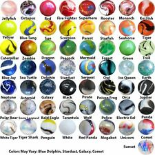Mega Marbles Player Bundle - Pack of 57 Different Styles in 14mm & 15mm