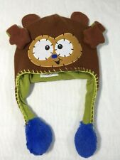 Flipeez Hat Monkey Children Kids Winter Cap Animal Shape Head Warmer Brown