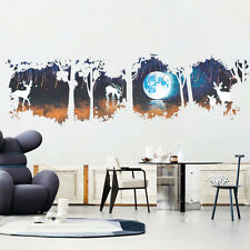 Cool Deer in Forest Wall DIY Art Viny Removable Sticker Living Room Home Decor