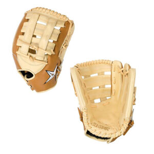 "All-Star 12.75"" Pro Elite Adult Baseball H-Web Outfield Glove Saddle"