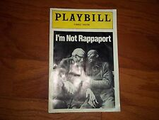 December 1986 - Forrest Theatre Playbill - I'm Not Rappaport - Judd Hirsch