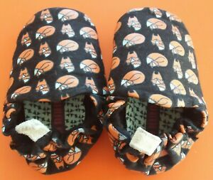 New Poco Nido Fox Print Baby Unisex Soft Fabric Shoes Slippers 3-6 months Suede