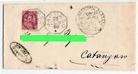 Annullo Collettoria - Jacurso - viaggiata  per Catanzaro nel 1888