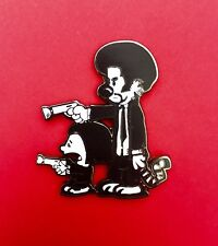 Calvin and Hobbes Pulp Fiction Pin...panic pretty dead phish co bassnectar tribe