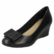 Wedge Leather Bow Heels for Women