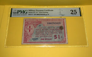 PMG Military Payment Certificate Series 471 $1 - First Printing VF 25