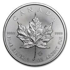 2017 Canadian Maple Leaf, : 1oz Troy 9999 Fine Silver Bullion Coin